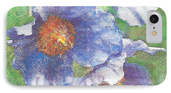 IPhone Case featuring the painting Blue Poppies by Richard James Digance