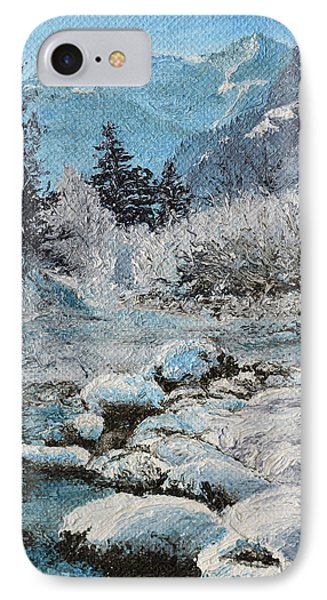 IPhone Case featuring the painting Blue Winter by Mary Ellen Anderson