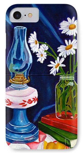 IPhone Case featuring the painting 2 Books And A Lamp by Laura Forde