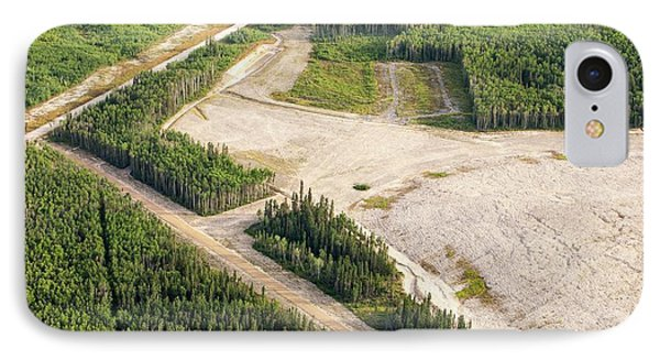 Boreal Forest Felled For A Tar Sands Mine IPhone Case by Ashley Cooper