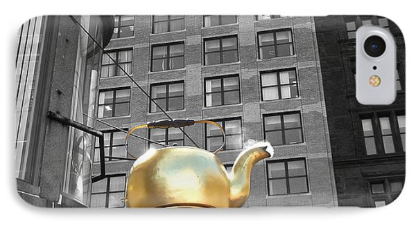 IPhone Case featuring the photograph Boston Golden Teapot by Cheryl Del Toro
