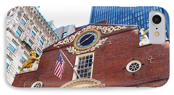 IPhone Case featuring the photograph Boston Old State House by Cheryl Del Toro