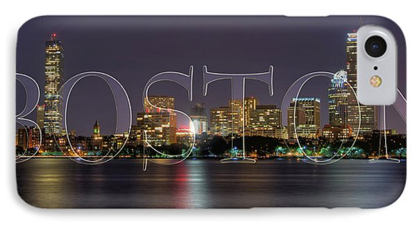 Boston Skyline Poster IPhone Case by Joann Vitali