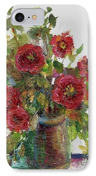 IPhone Case featuring the painting Bouquet Of Poppies by Mary Wolf