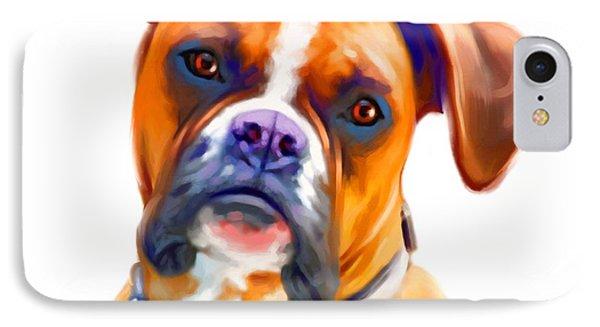 Boxer Dog Art Phone Case by Iain McDonald