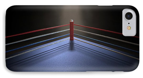 Boxing Corner Spotlit Dark IPhone Case by Allan Swart