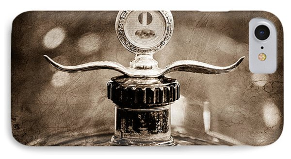 Boyce Motometer - Hood Ornament IPhone Case by Jill Reger