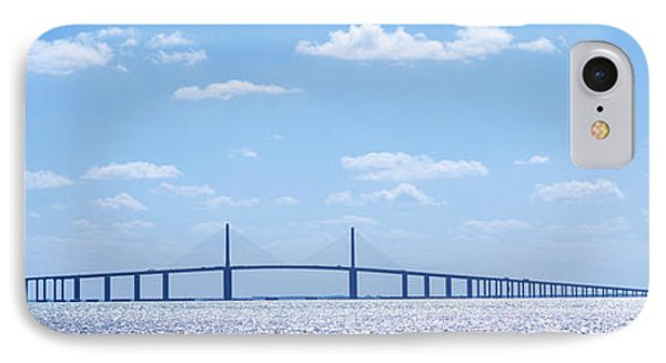 Bridge Across A Bay, Sunshine Skyway IPhone Case by Panoramic Images