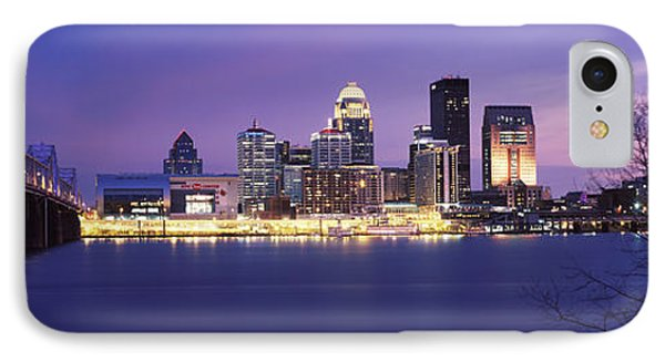 Bridge Across A River At Dusk, George IPhone Case by Panoramic Images