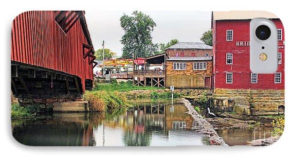 Bridgeton Mill And Covered Bridge IPhone Case by Jack Schultz