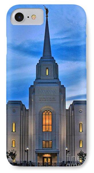 Brigham City Temple IPhone Case