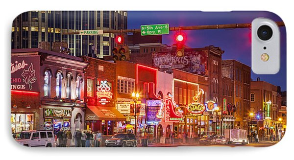 Broadway Street Nashville IPhone Case by Brian Jannsen