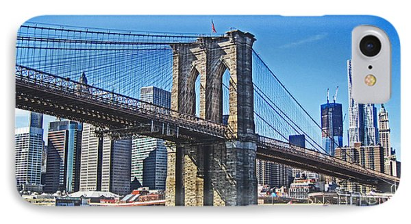 Brooklyn Bridge  IPhone Case by Alison Tomich