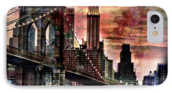 Brooklyn Bridge Phone Case by Christine Mayfield