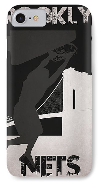Brooklyn Nets IPhone Case by Joe Hamilton