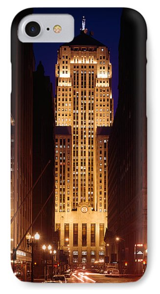Buildings Lit Up At Night, Chicago IPhone Case