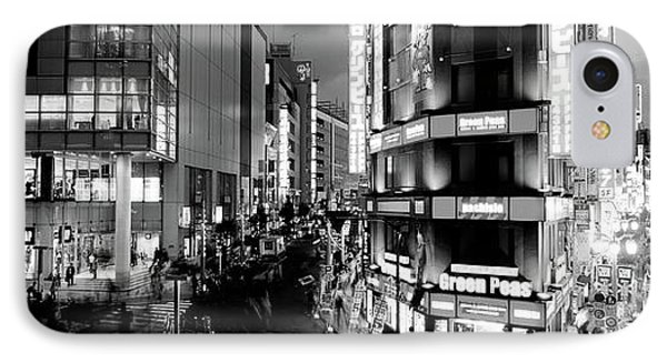 Buildings Lit Up At Night, Shinjuku IPhone Case by Panoramic Images