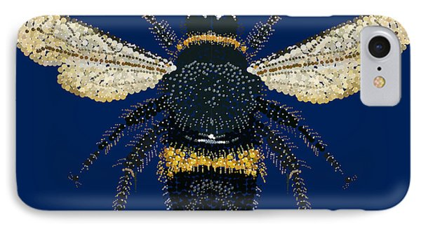 Bumblebee Bedazzled IPhone Case by R  Allen Swezey