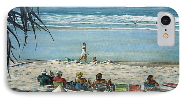 IPhone Case featuring the painting Burleigh Beach 220909 by Selena Boron