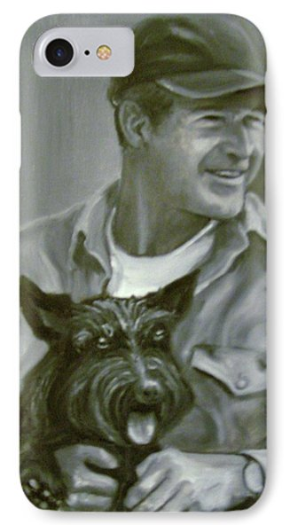 Bush And Barney IPhone Case by Martha Suhocke