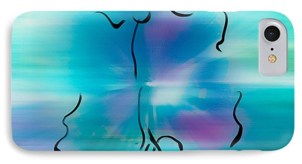 IPhone Case featuring the mixed media Butterfly Abstract 2 by Frank Bright