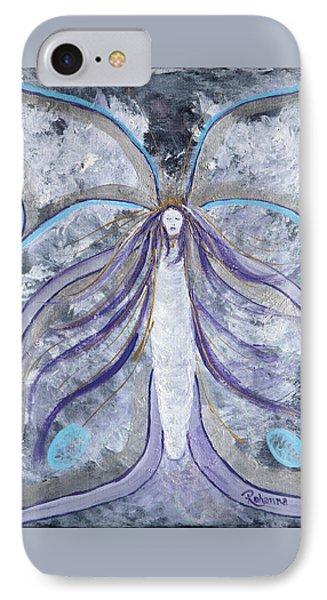 Butterfly Goddess Phone Case by Judy M Watts-Rohanna