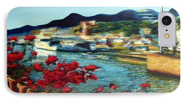 Cabo Marina With Flowers IPhone Case by Gerhardt Isringhaus