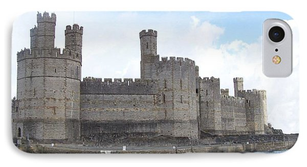 Caernarfon Castle IPhone Case by Christopher Rowlands