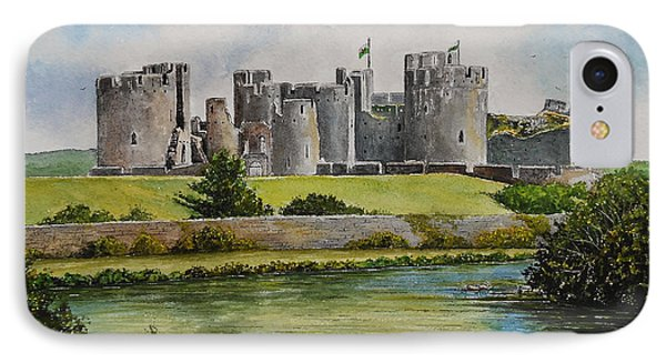 Caerphilly Castle  Phone Case by Andrew Read