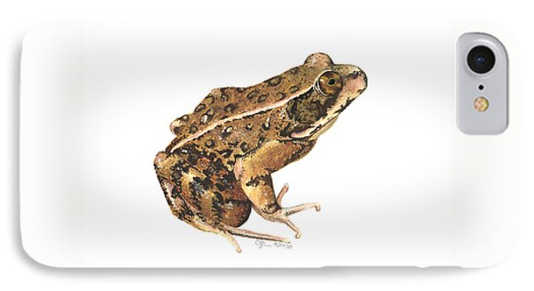 California Red-legged Frog IPhone Case by Cindy Hitchcock