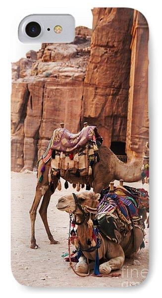 Camels IPhone Case by Jelena Jovanovic