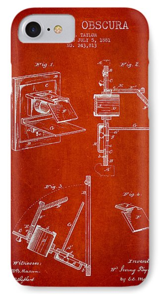 Camera Obscura Patent Drawing From 1881 Phone Case by Aged Pixel