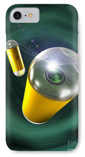 Capsule Endoscopes, Conceptual Image IPhone Case by Victor Habbick Visions