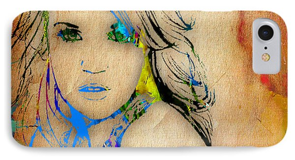 Carrie Underwood Painting. IPhone Case
