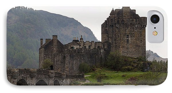 Cartoon - Structure Of The Eilean Donan Castle With A Stone Bridge IPhone Case by Ashish Agarwal