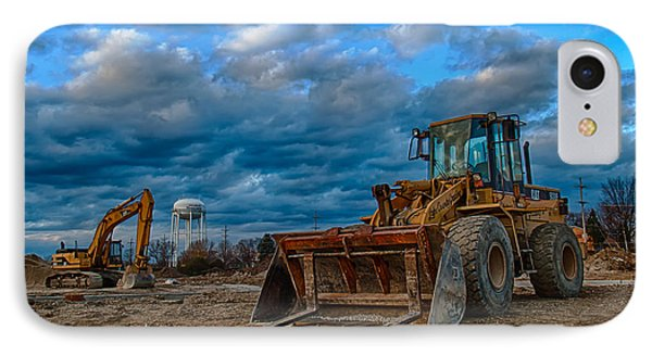 Cat Bulldozer IPhone Case by Mike Burgquist