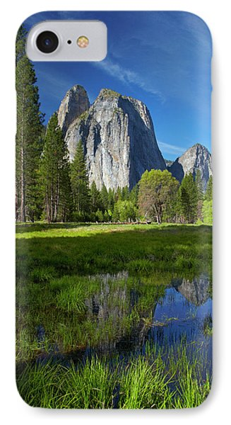 Cathedral Rocks Reflected In A Pond IPhone Case