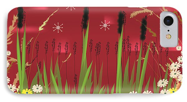 IPhone Case featuring the digital art Cattails by Kim Prowse