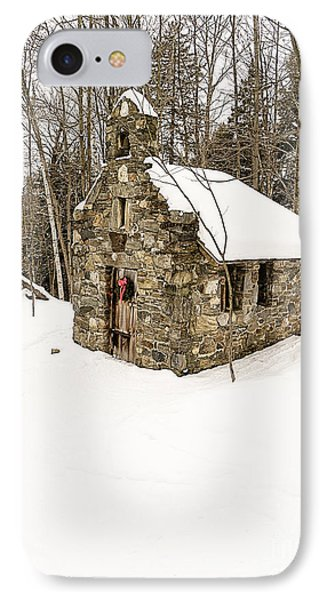 Chapel In The Woods Stowe Vermont IPhone Case by Edward Fielding