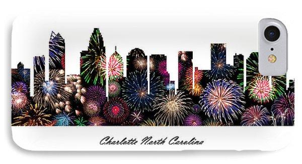 Charlotte North Carolina Fireworks Skyline IPhone Case