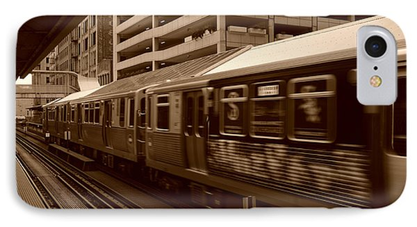 IPhone Case featuring the photograph Chicago Cta by Miguel Winterpacht