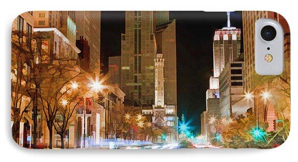 Chicago Michigan Avenue Light Streak IPhone Case by Christopher Arndt