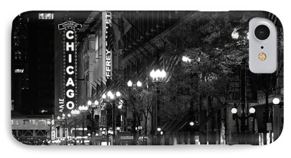 Chicago Theatre At Night Phone Case by Christine Till