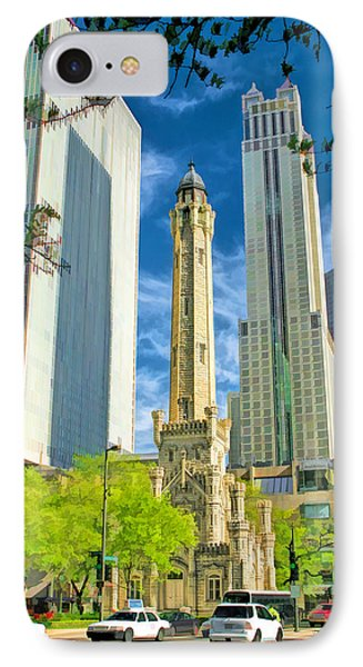 Chicago Water Tower Shopping IPhone Case by Christopher Arndt