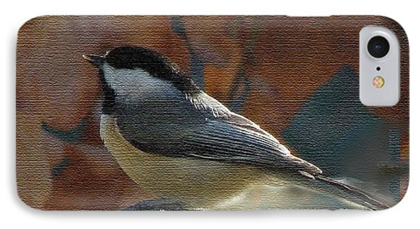 IPhone Case featuring the photograph Chickadee In Autumn by Janette Boyd