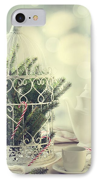 Christmas Birdcage IPhone Case by Amanda Elwell