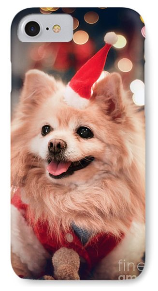 Christmas Dog IPhone Case by Charline Xia