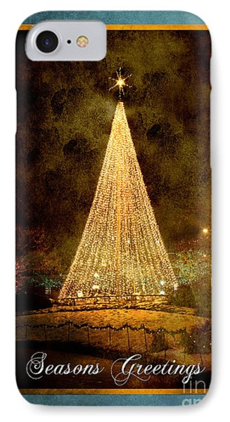 Christmas Tree In The City Phone Case by Cindy Singleton