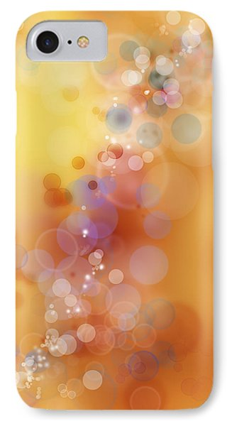 Circles Background IPhone Case by Les Cunliffe