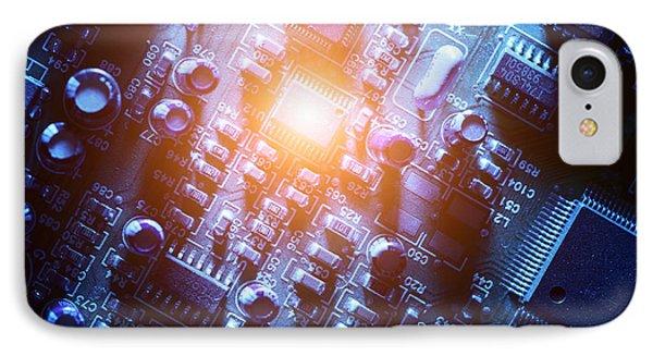 Circuit Board Abstract Phone Case by Konstantin Sutyagin